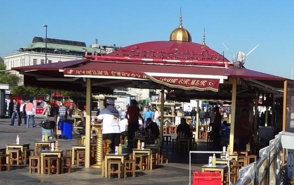 Galataturka Cafe Bar on the Galata Bridge Square
