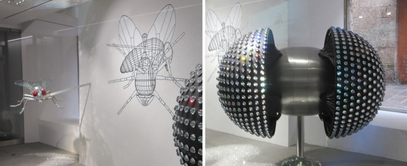 Swarovski Innsbruck; This work of art expresses the compound eyes of the insect.