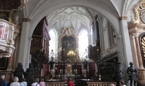 Choirstalls and Altar.