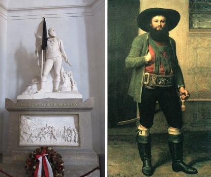 Andreas Hofer Tomb and Portrait