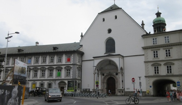 Tyrolean Folk Art Museum (right) and Imperial Court Church (left)