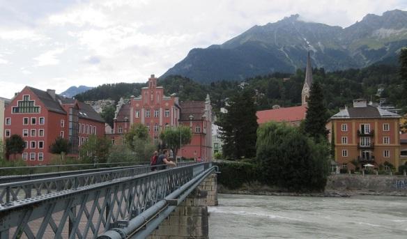 The city of Innsbruck and Inn River.
