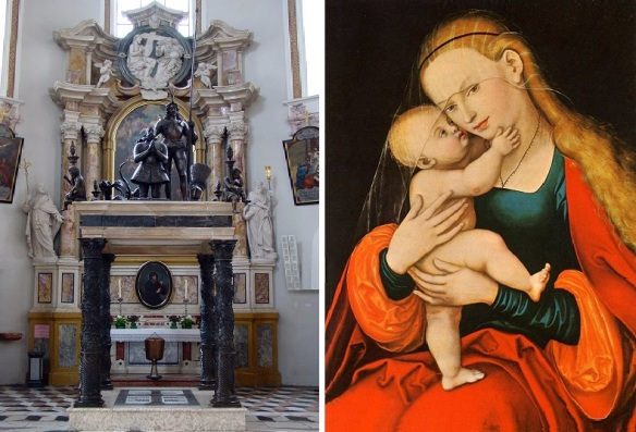 Tomb of Archduke Maximilian III and Painting of Maria Hilf (Mary of Succor)
