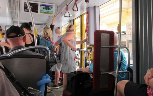 Inside of the tram.