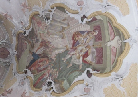 The ceiling frescoes