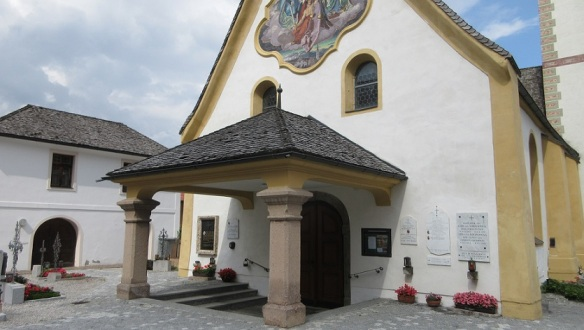 The entrance of the parish church