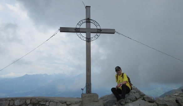 Summit cross and I on the Hafelekarspitze.