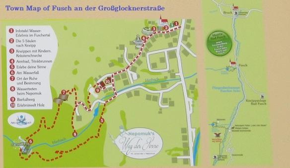 Town Map of Fusch an der Großglocknerstraße
