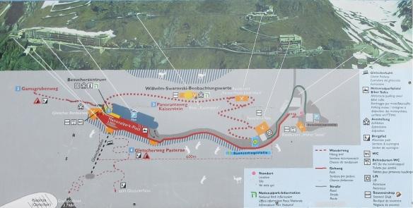 Walking plan of Kaiser-Franz-Josefs-Höhe
