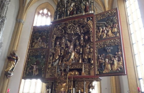Altarpiece of St Vincent Church Heiligenblut