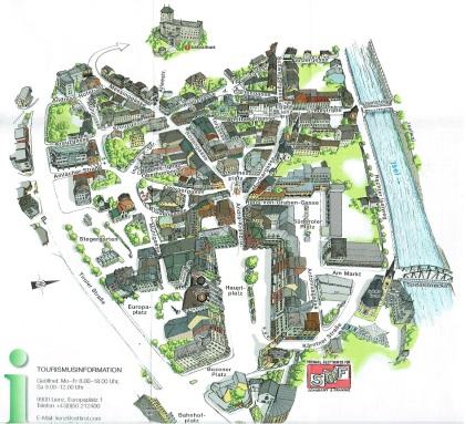 Lienz Town Center Map