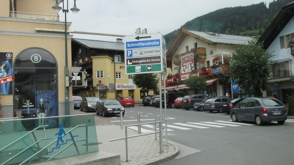 Arrived in the town of Zell am See