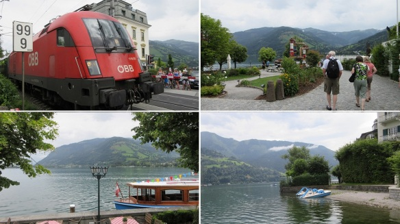 Railway crossing and Lake Zell (Zeller See)