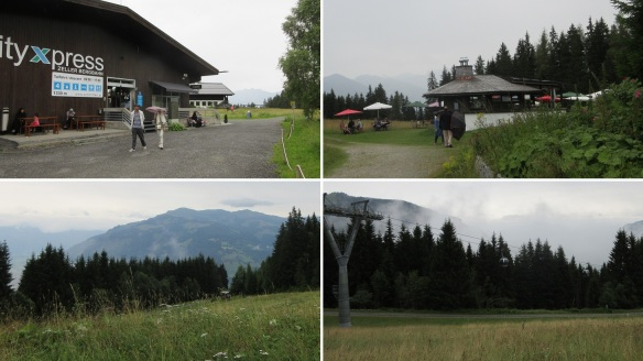 Arrive at the summit station (Gasthof Mittelstation) and took a walk through some neighborhood a little.
