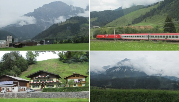 From the town of Zell am See going back to Innsbruck.