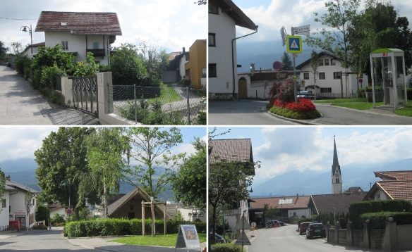 Walking for a while, an open‐air theater and a church spire came into view. Here, it seems to be the center of the village.