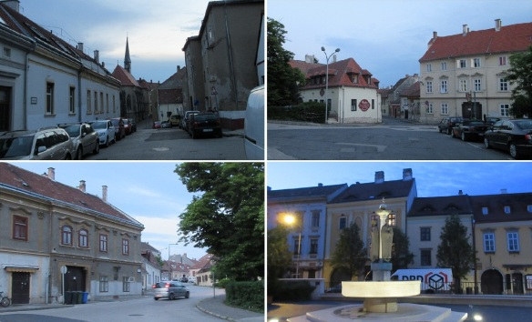 From the hotel walking to the old town of Sopron.