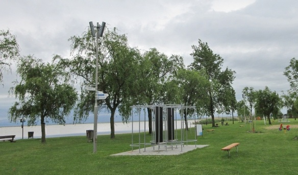 We arrived at the bank of Lake Neusiedl (Fertő) from Pan-European Picnic Memorial Park.