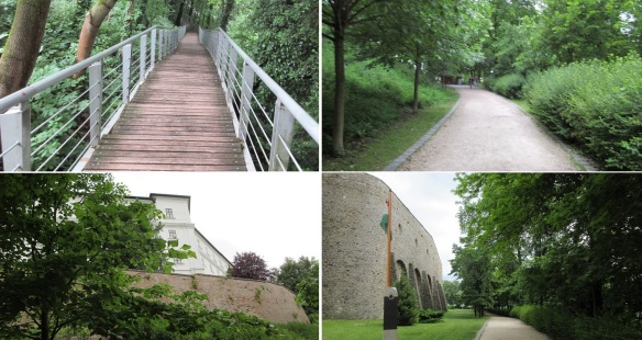 From the Visitor Centre, walking to Pannonhalma Benedictine Abbey (the Romanesque church).