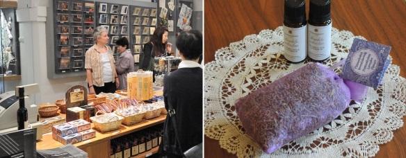 Pannonhalma souvenir shop, my friends purchase lavender oil and some lavenders.
