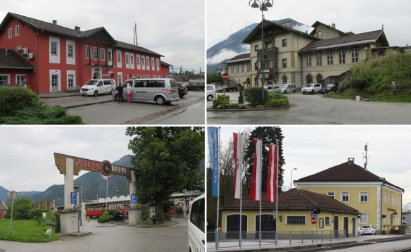 Jenbach railway station and the station square.