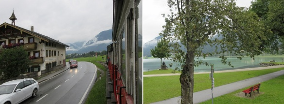The steam locomotive was running to Achensee Lake. The lake came into view soon.