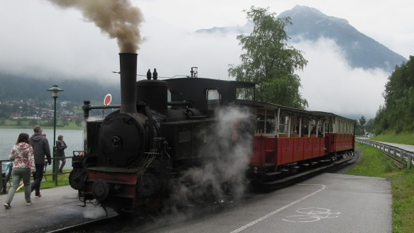 Left the Achensee Railway and embarked on a voyage of Lake Achensee.