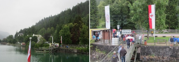 Arrived at the pier of Scholastika, I got off the ship. Light rain was falling.