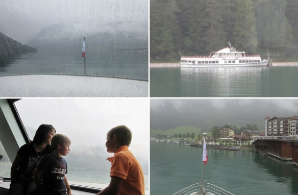 Since it was raining, the children did not go out to the outside. The ship was close to Seespitz.