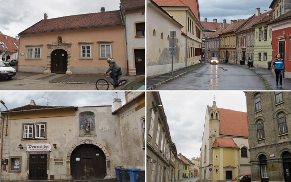 From the hotel, walking to the city center of Sopron.