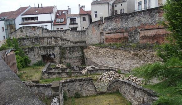 Roman ruins, part of the city wall Sopron