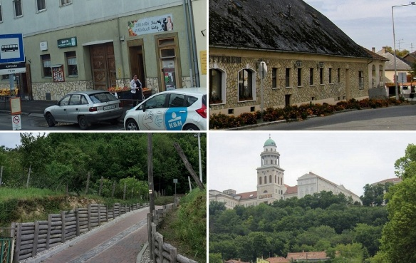 Arrived in the town of Pannonhalma and walking to the Archabbey.