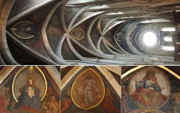 Frescos on the ceiling of St. Martin Basilica