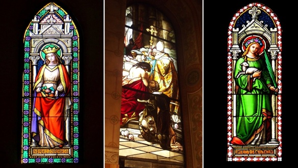 Leaving the St. Martin's Basilica; really beautiful stained glasses of the Pannonhalma Archabbey.