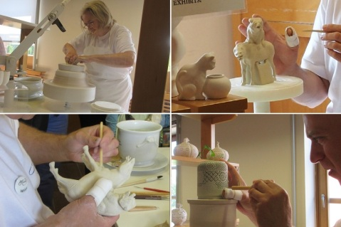 Create a form out of clay.