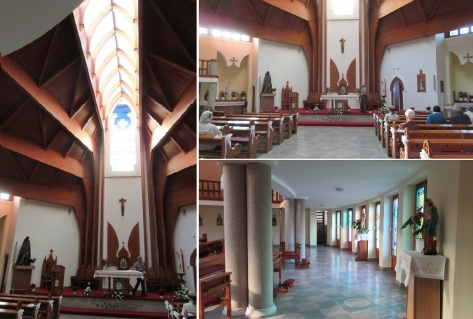 The interior of the church is also very clean.