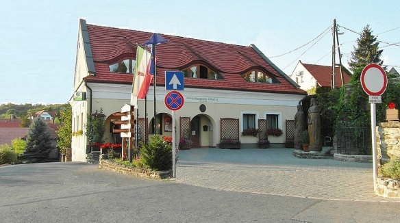 Town hall on the Visszhang street of Tihany