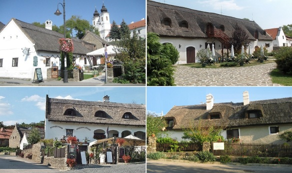 The village center of Tihany, Thatched house, Doll Museum and A house built in 1707.