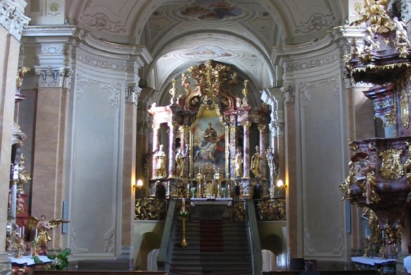 The main altar in the church