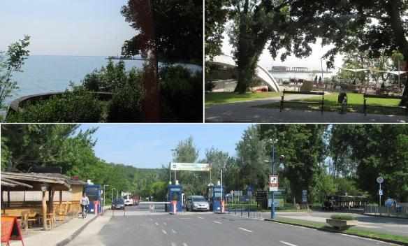 From Kossuth Lajos street (village center), through Cserhegy and Rév Street arrived at Tihany Port.