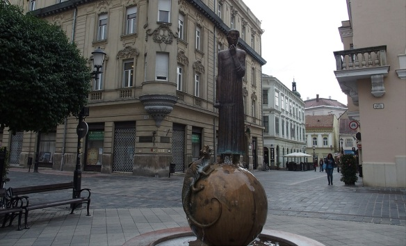 —Statue of St. George and the Dragon on Baross Gábor Street