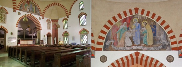 Interior of the church with Ottoman Turkish elements; Is it Islam? Is it Christianity? A really mysterious scene!