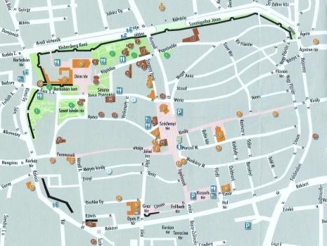 Pécs Old Town Map