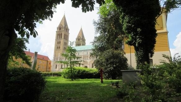 Pécs Cathedral has been a prominent feature of this Hungarian cityscape for centuries.
