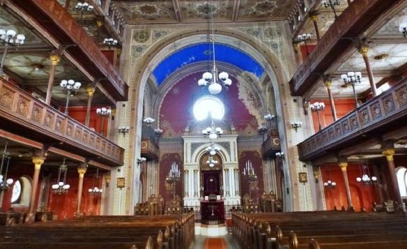 Interior of the Synagogue Pécs