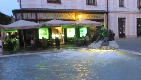Fountain in front of the National Theatre of Pécs