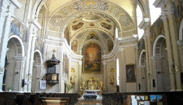 Interior of the Transfiguration Church Pécs
