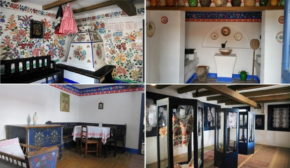 Guest room, kitchen, living room, and former storage room (now a folk art exhibition room)