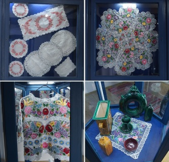 Exhibits of embroidery
