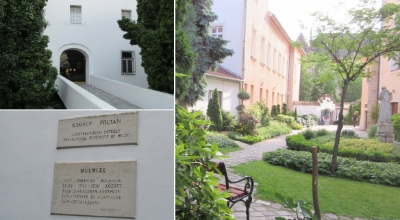 Entrance and courtyard of the Zoltán Kodály Institute.